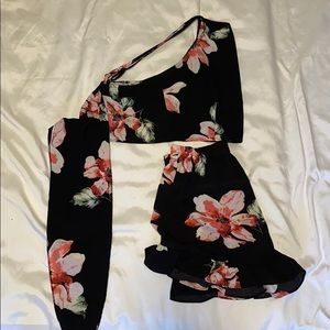 Zaful two-piece floral outfit